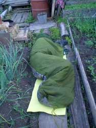 А я в это время спал в палатке